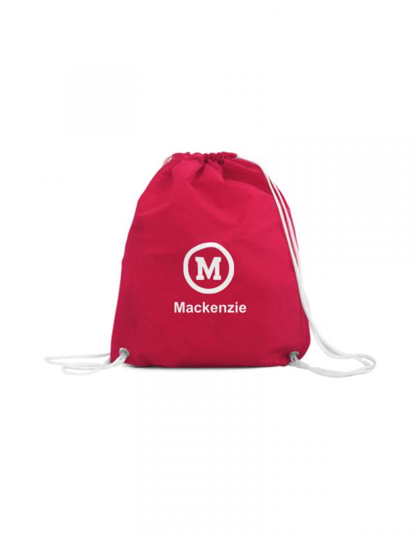 esta é uma mocghila sacola vermelha