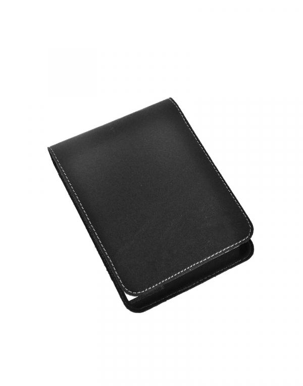 Porta Bloco BXT produzido em sintético preto acompanha caneta e bloco