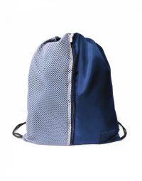 mochila sacola azul