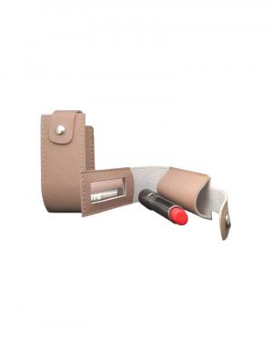 porta batom produzido em sintetico prada rose cabe apenas um batom mpossui espelho