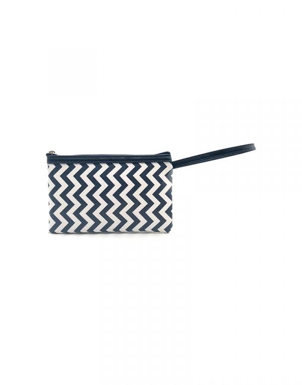 minibag zigzag barnco com azul detalhe azul marinho