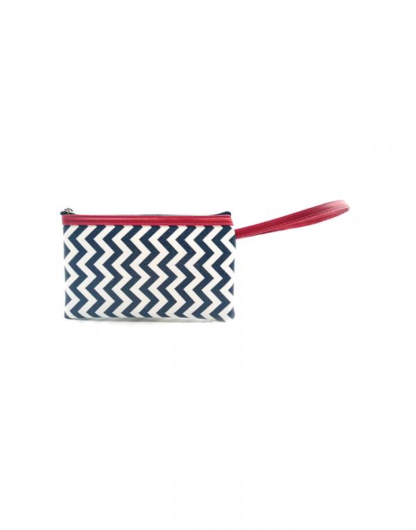 minibag zigzag barnco com azul detalhe pink
