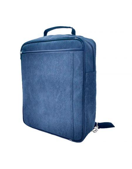 mochila em sintetico buffao azul marinho pode ser usada como bolsa transversal, mochila e bolsa de mao
