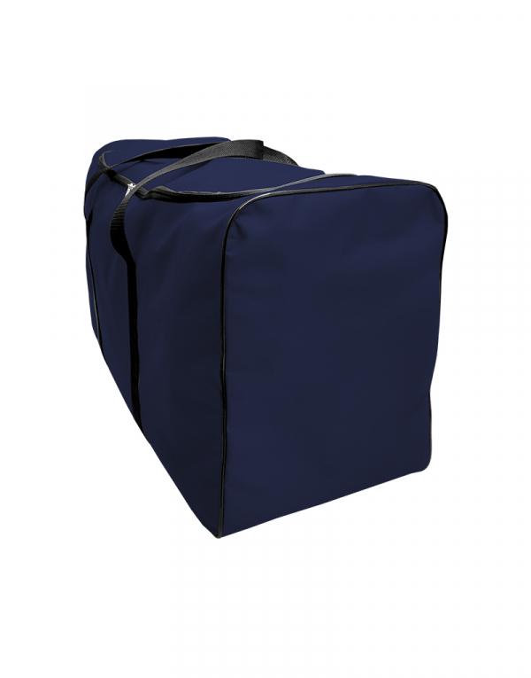 mala com tamanho muito grande sem forro com abertura em U poliestes 600 na cor azul marinho foto lateral