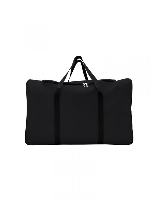 mala com tamanho muito grande sem forro com abertura em U poliestes 600 na cor preta