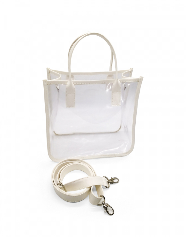 bolsa transparente cabe vários itens