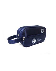 Necessaire cn com bolso frontal poliéster azul marinho
